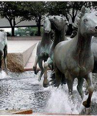Скульптура-фонтан «Мустанги»